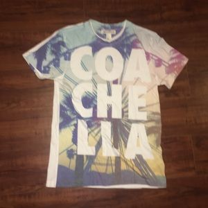 Official HM Coachella Spell Out Graphic Shirt
